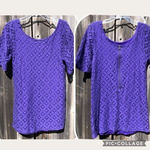 🌟Love Notes Purple Lace Dress Size Small